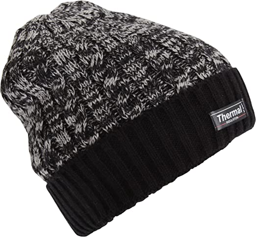 PRESENTS THERMAL INSULATION BLACK BEANIE HATS 40 GRAMS  IDEAL FOR WINTER