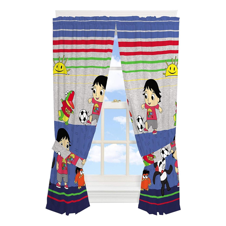 "Franco Kids Room Window Curtain Panels with Tie Backs Drapes Set, 82"" x 63"", Ryan's World"