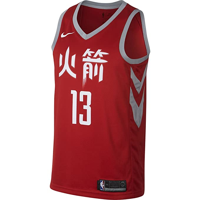 Nike NBA Houston Rockets James Harden 13 2017 2018 City Edition Jersey Official, Camiseta de Hombre: Amazon.es: Ropa y accesorios