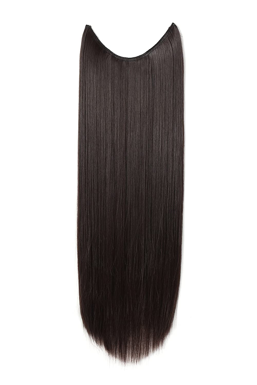 Amazon onedor 24 straight synthetic hair extensions amazon onedor 24 straight synthetic hair extensions transparent wire no clips 24 straight dark brown 4 beauty pmusecretfo Choice Image