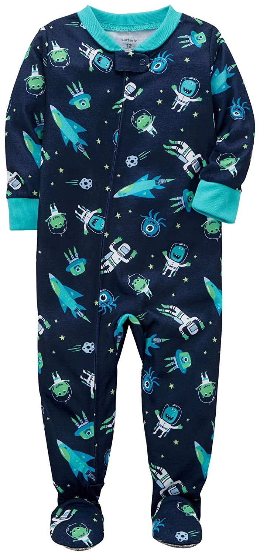 4a5125e3c181 Carters Baby Boys 2T-5T One Piece Alien Astronaut Snug Fit Cotton ...