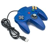 QUMOX NINTENDO 64 N64 GAMES CLASSIC GAMEPAD CONTROLLERS FOR USB TO PC/MAC BLUE
