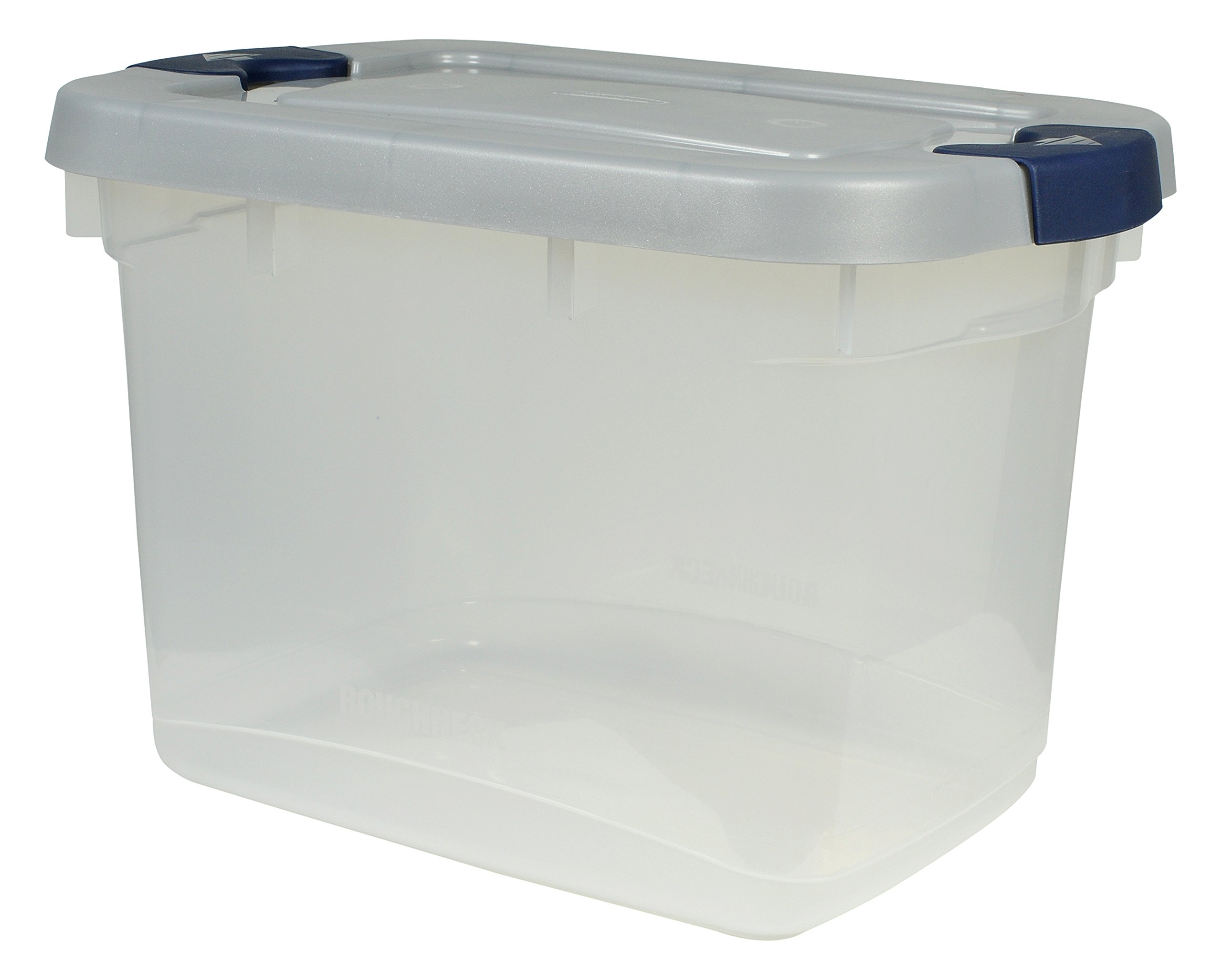 Rubbermaid 1785782 Roughneck Clear Tote, 19-Quart, 8 Pack by Rubbermaid