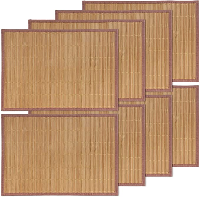 Bamboo Placemat With Black Border