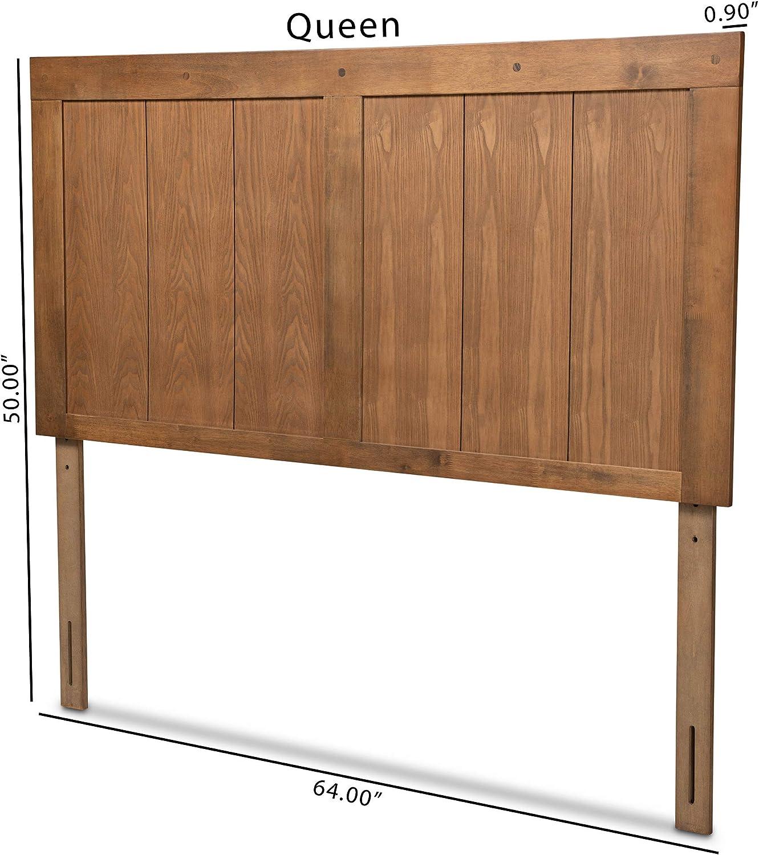179-11157-AMZ Baxton Studio Patwin Modern and Contemporary Transitional Ash Walnut Finished Wood King Size Headboard