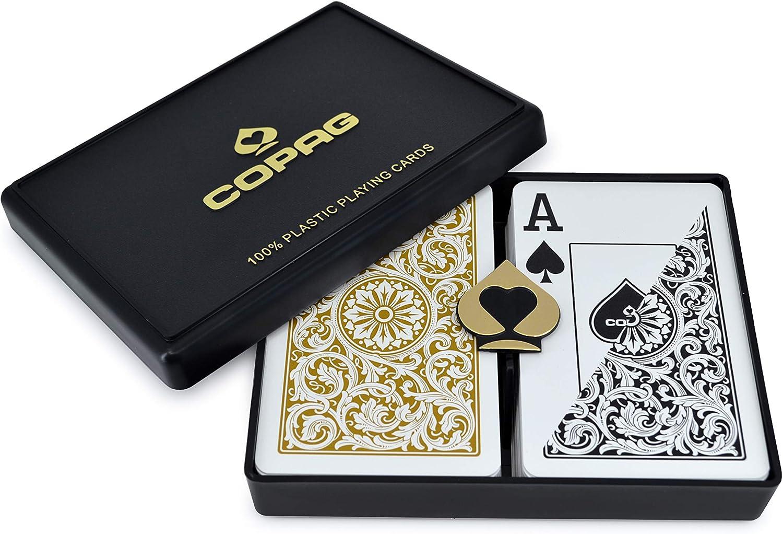 Copag Bridge Size Jumbo Index 1546 Playing Cards (Black Gold Setup ...