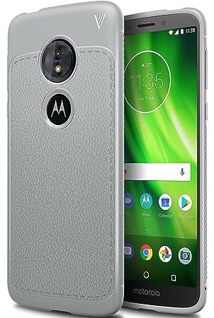 Moto G6 play Funda, iBetter anti-rasca la Carcasa alta calidad TPU de la imitación ninguna Case del teléfono móvil caja del teléfono Cover para Moto ...