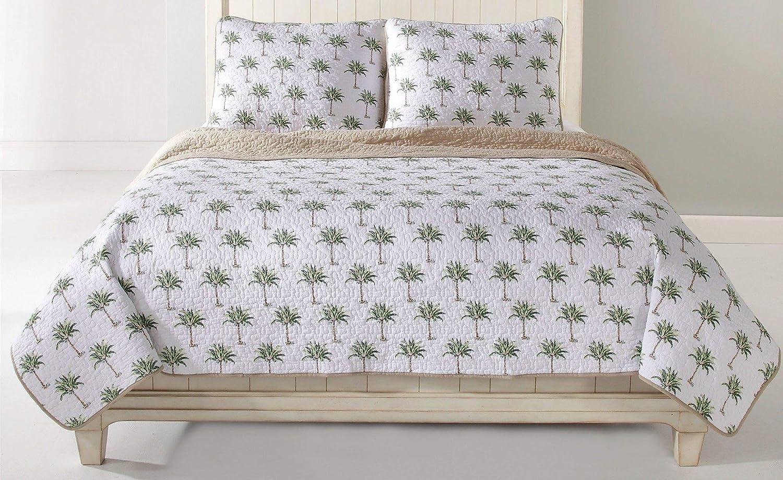 Panama Jack Palm Tree Full/Queen Quilt Set Full/Queen Beige Multi