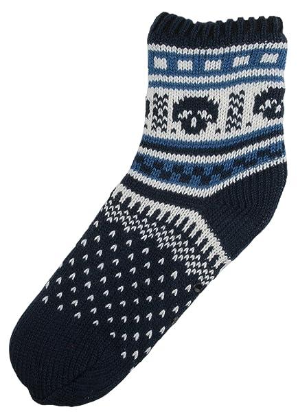 Rjm Boys Fairisle de punto calcetines de forro polar