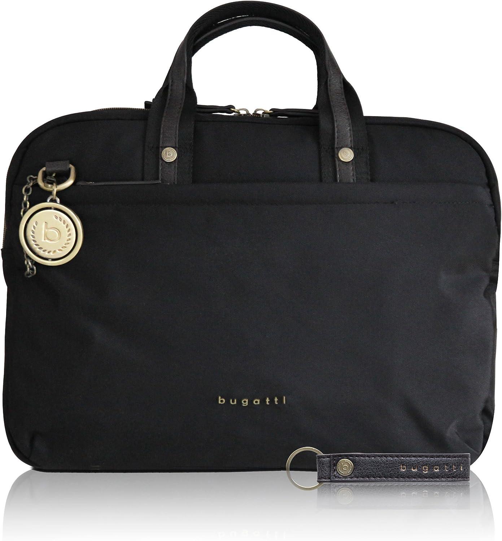 Bugatti Contratempo Sac business nylon medium RFID pour femmes /él/égante mallette noire