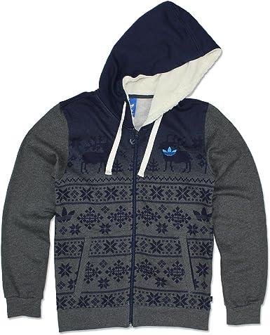 misericordia reflujo motivo  adidas Originals Trefoil Hoodie Nordic Performance Full Zip Hoodie M, L,  XL, grey, L: Amazon.co.uk: Clothing