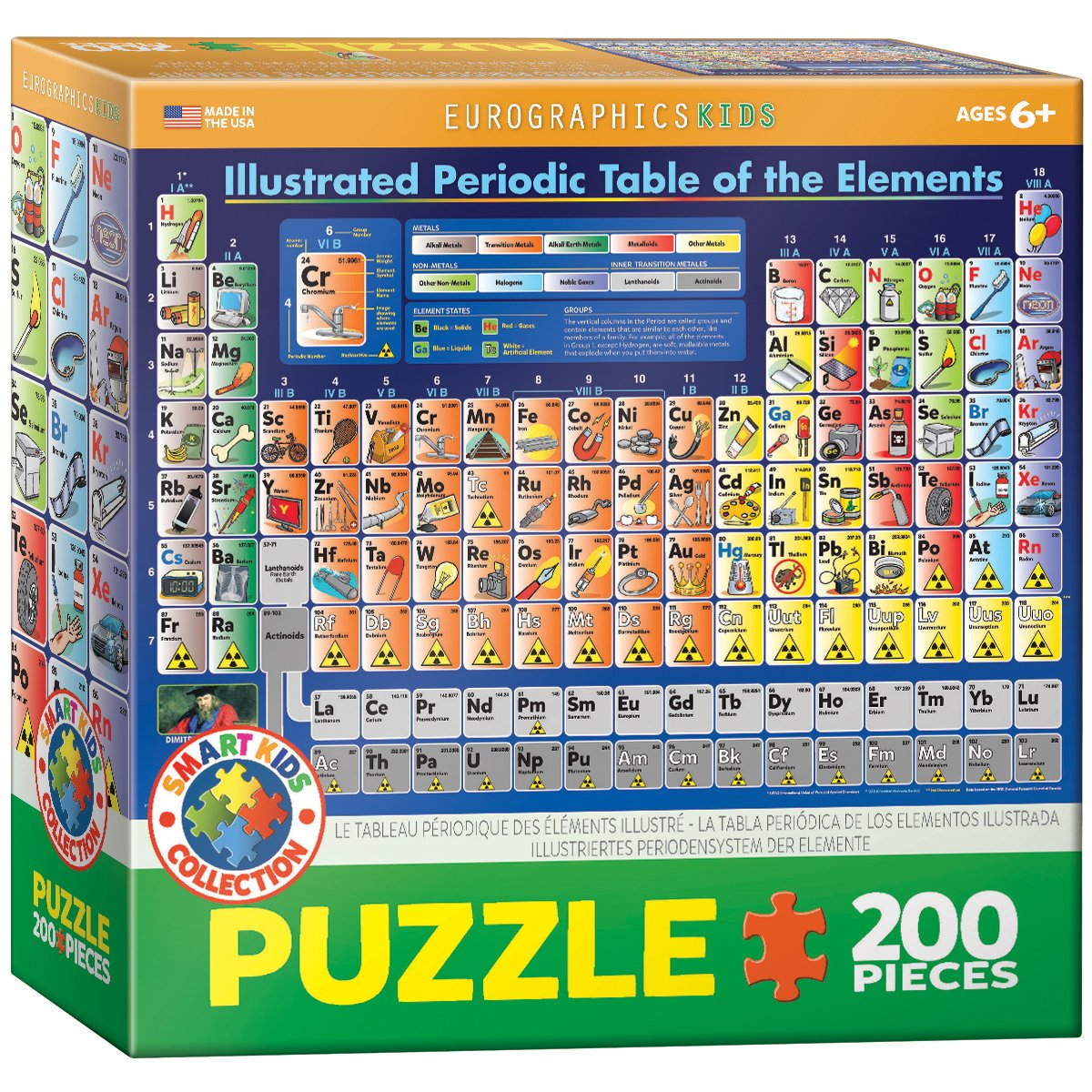Amazon eurographics periodic table illustrated jigsaw puzzle amazon eurographics periodic table illustrated jigsaw puzzle 200 piece toys games urtaz Gallery