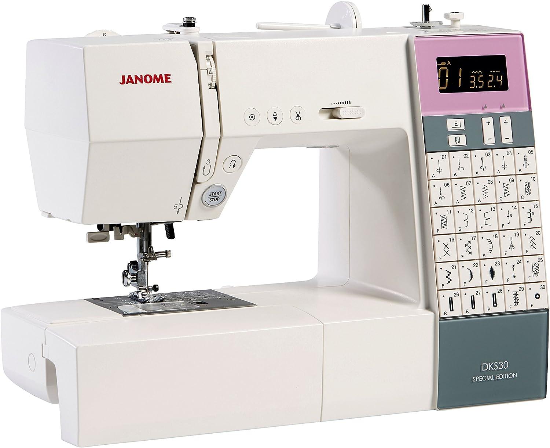 Máquina de coser Janome DKS30 edición especial: Amazon.es: Hogar