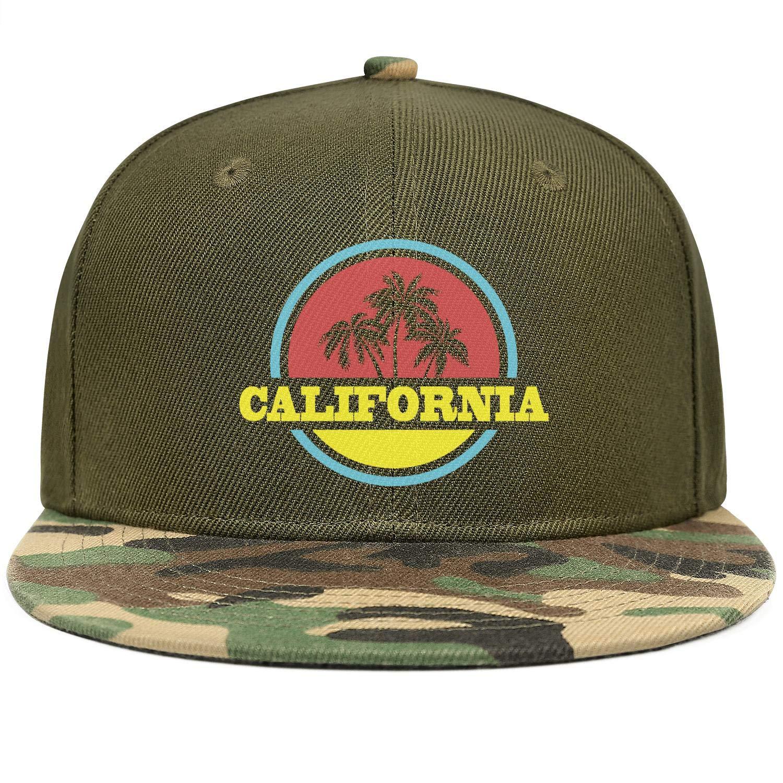 Graphic Vintage Cali Beach Palm Tree Unisex Baseball Cap Summer Fishing Hats Adjustable Trucker Caps Dad-Hat