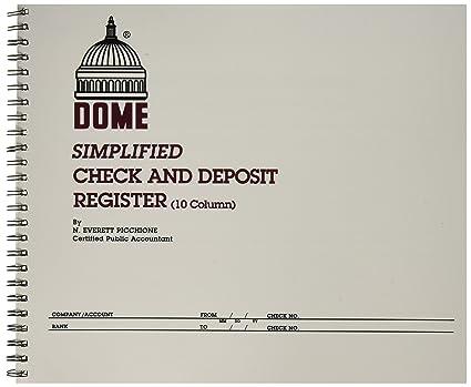amazon com dome publishing co inc check deposit register 50 pages