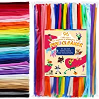 PP OPOUNT 360 Pieces 40 Assorted Colors Pipe Cleaners Chenille Stems for Kids Classrooms and Home Fun DIY Art…