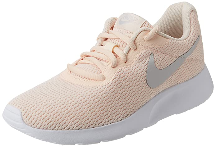 Nike Tanjun Damen Sneaker Laufschuhe Guava Ice mit grauem Streifen