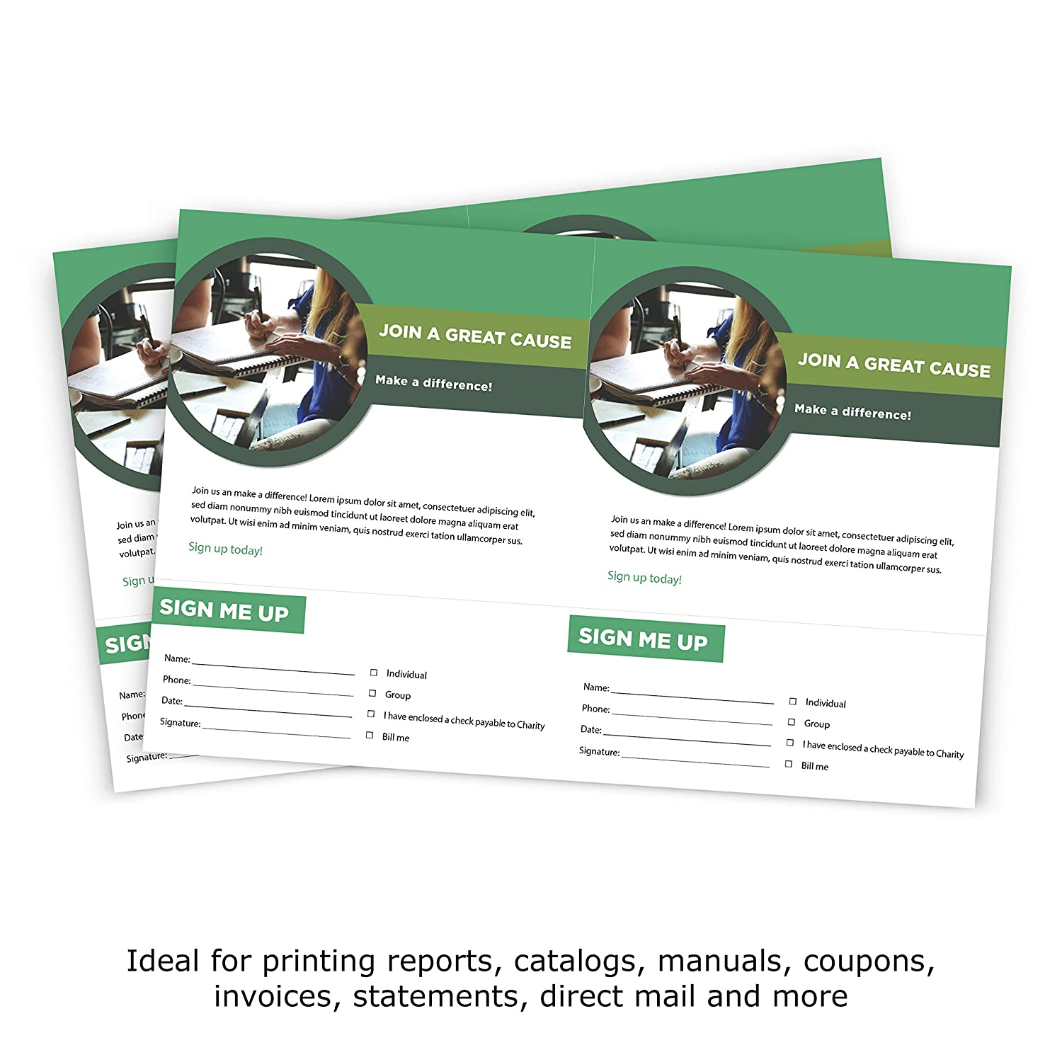 printworks professional perforated paper for statements invoices gift certificates coupons and more