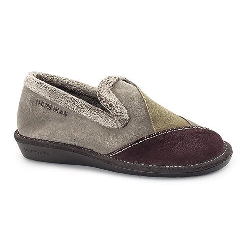 Nordikas - Zapatillas de estar por casa para mujer Rojo rojo: Amazon.es: Zapatos y complementos