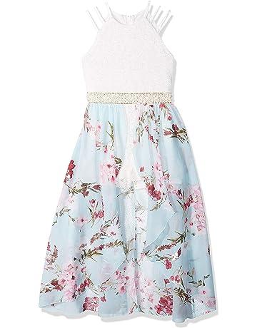 e0bc40e965 Speechless Girls  Big Halter Neck Walk-Through Romper Maxi Dress