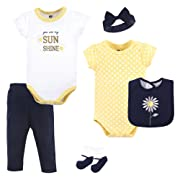Hudson Baby Baby Multi Piece Clothing Set, Daisy 6, 0-3 Months (3M)