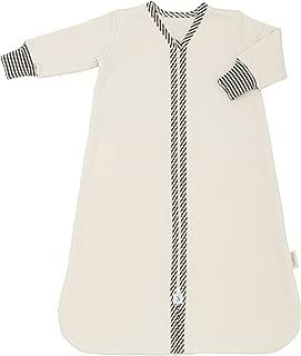 product image for CastleWare Baby- Sleeper Bag - Organic Cotton Fleece - Long Sleeve - Newborn- 4 Years (3T, Charcoal Grey Stripe)