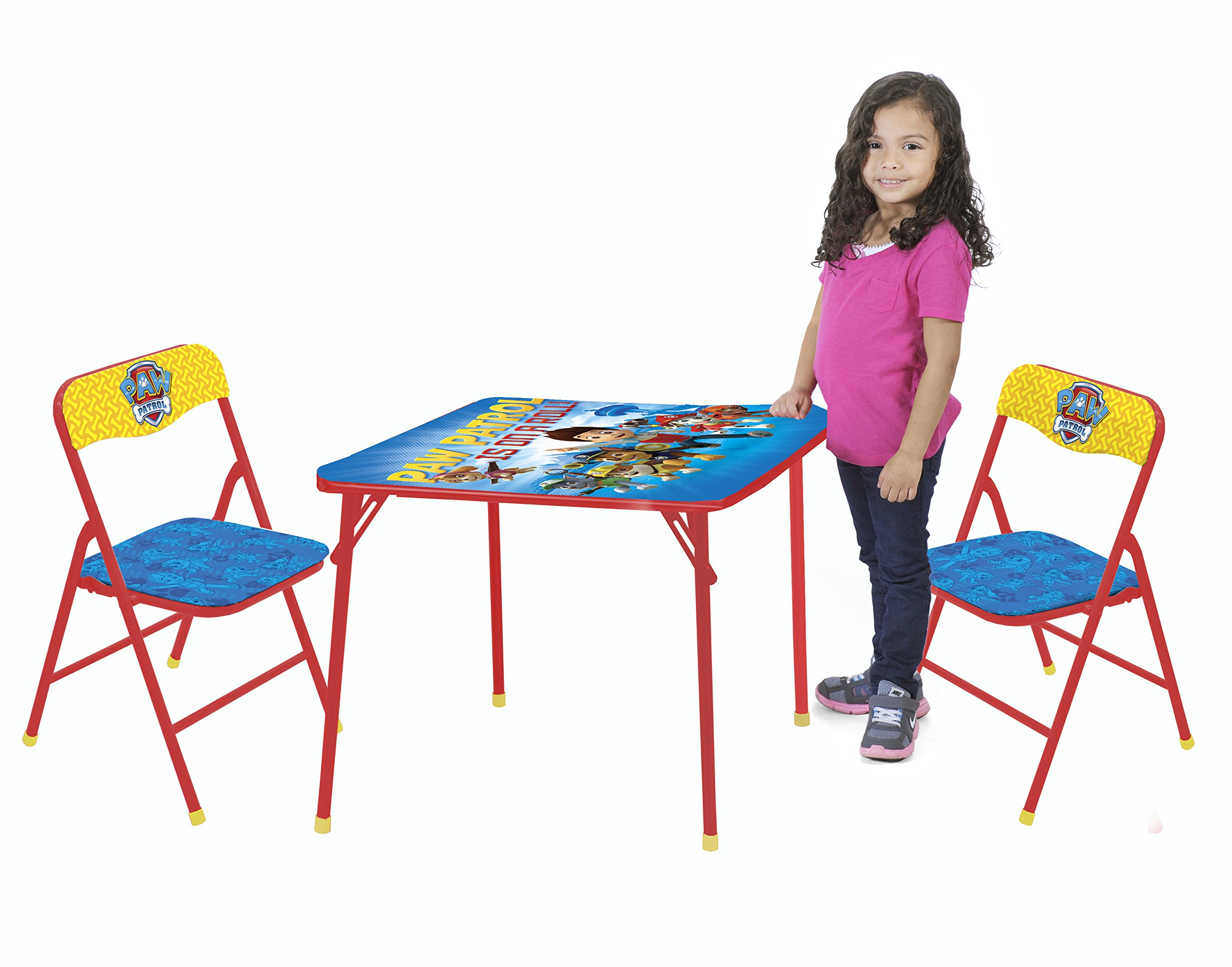 Nickelodeon Paw Patrol 3-Piece Kids Table & Chair Set Toy by Nickelodeon