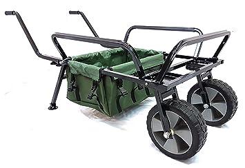 Carro de pesca de dos ruedas, resistente con bolsa de BISON