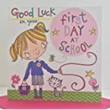 Good luck on your first day at school card by rachel ellen (girl)