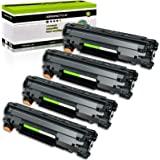 GREENCYCLE 4 PK Compatible for Canon CRG 128 C128 3500b001aa Black Laser Toner Cartridge for ImageCLASS D530 MF4570dw MF4770N