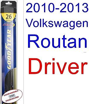 2010 - 2013 Volkswagen Routan hoja de limpiaparabrisas de repuesto Set/Kit (Goodyear limpiaparabrisas blades-hybrid) (2011,2012): Amazon.es: Coche y moto