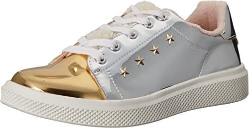 Tommy Hilfiger Little//Big Girl/'s Arrin Logo White//Silver Sneakers Shoes
