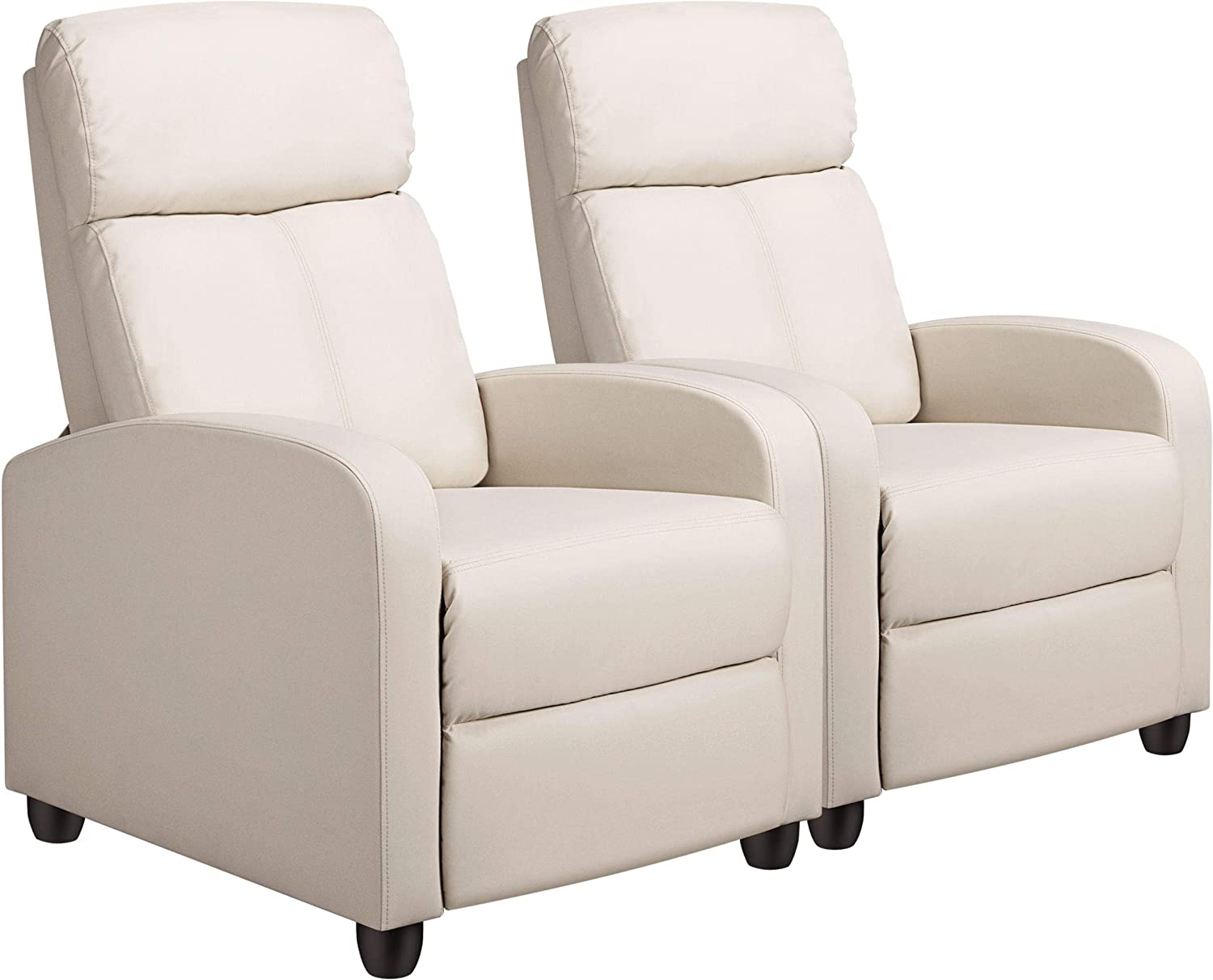 Home Theater Seating Furniture YAHEETECH Reclining Leather Chair ...