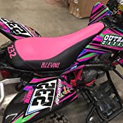 Senge Graphics Kit compatible with Yamaha All Years Raptor 125 13 Fly Racing Blue Graphics Kit with blank number plates