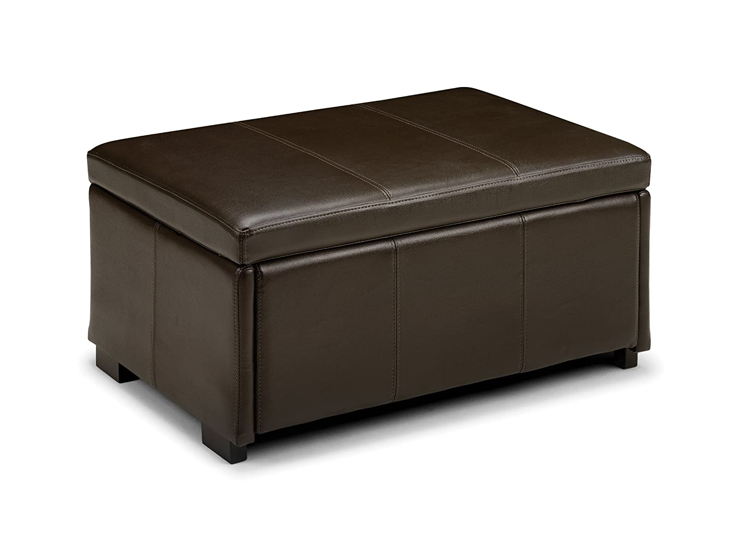 julian bowen vienna faux leather ottoman brown amazoncouk - Brown Leather Ottoman