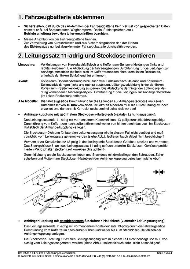 Anh/ängevorrichtung Jaeger 21500014 Elektrosatz