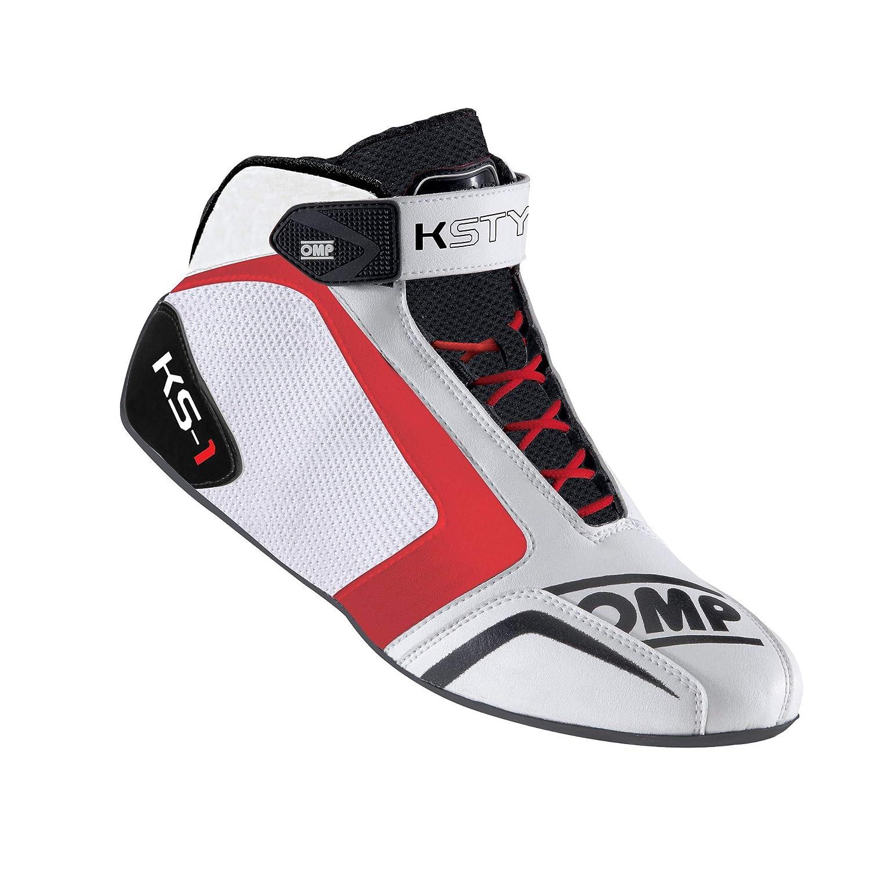 OMP OMPIC//81212038 Zapatillas Blanco//Negro//Rojo Talla 38