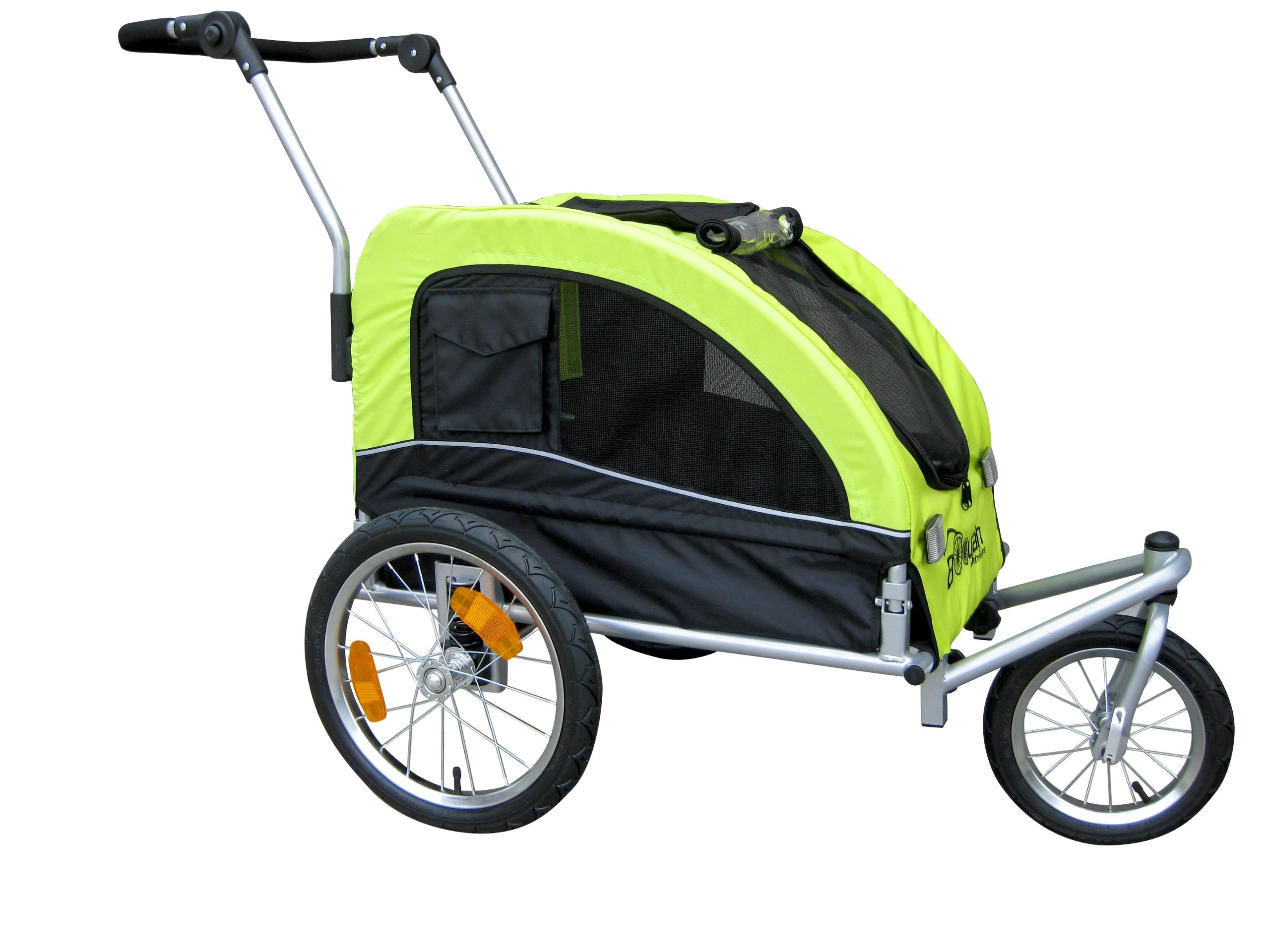 Booyah Medium Dog Stroller & Pet Bike Trailer and with Suspension - Florescent Green by Booyah Strollers