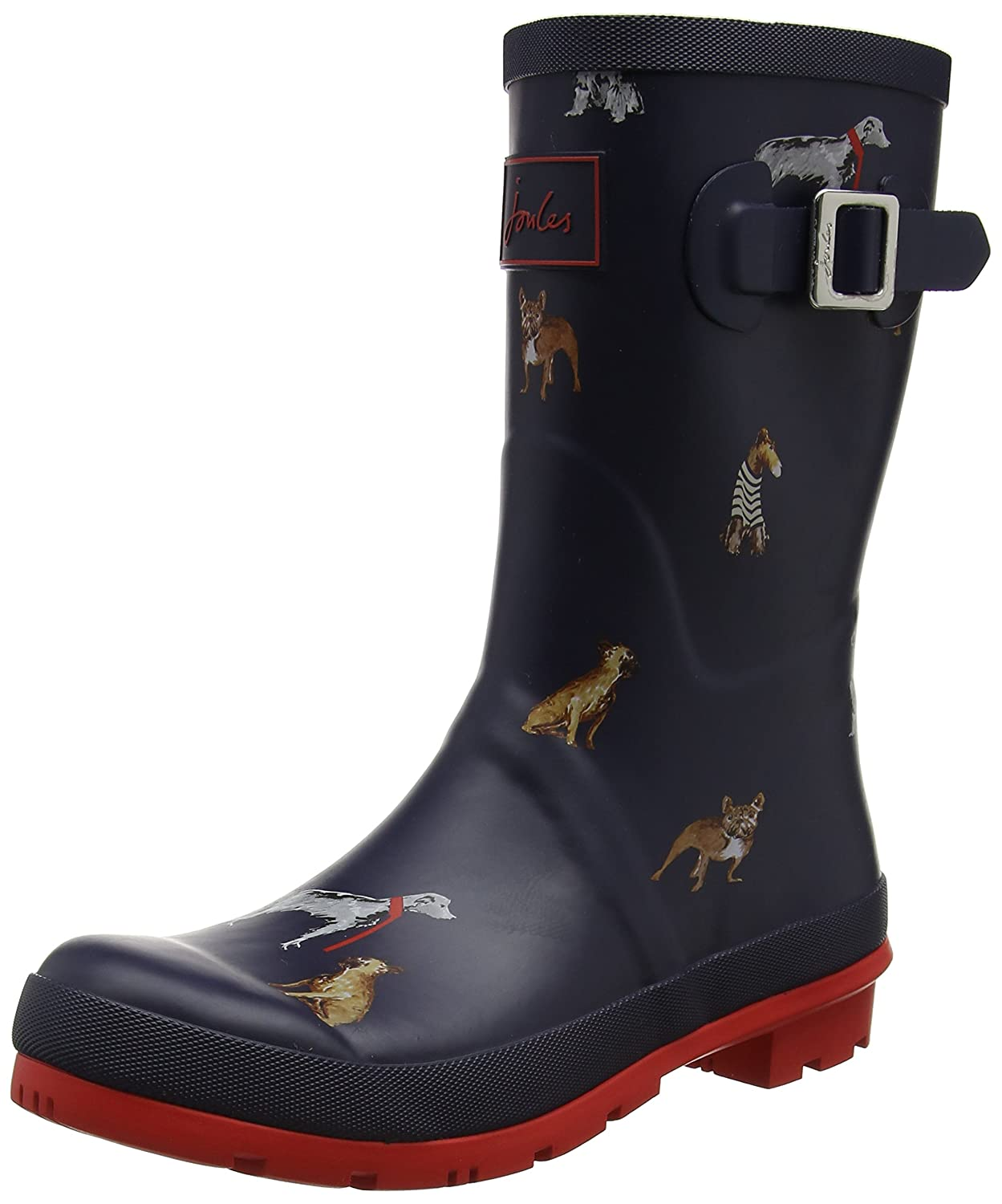 Joules Women's Molly Welly Rain Boot B071VH4HF8 6 B(M) US French Navy Chic Dogs