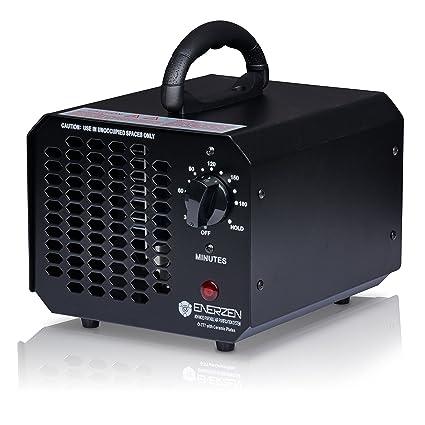 Enerzen Commercial Ozone Generator 6,000mg Industrial O3 Air Purifier  Deodorizer Sterilizer (6,000mg - Black)