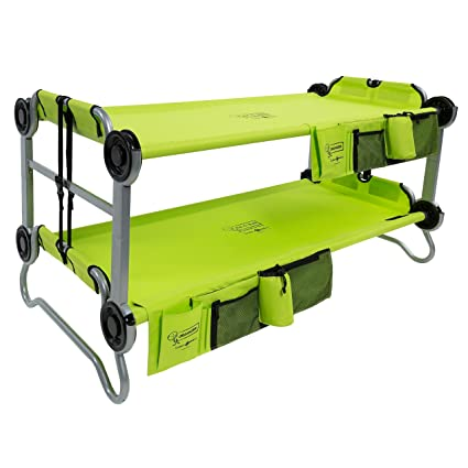 Disc O Bed Youth Kid Bunk With Organizers Lime Green