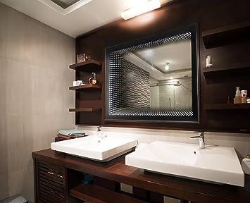 Amazon.de: Bilderdepot24 3D Design Infinity Badezimmer Spiegel mit ...