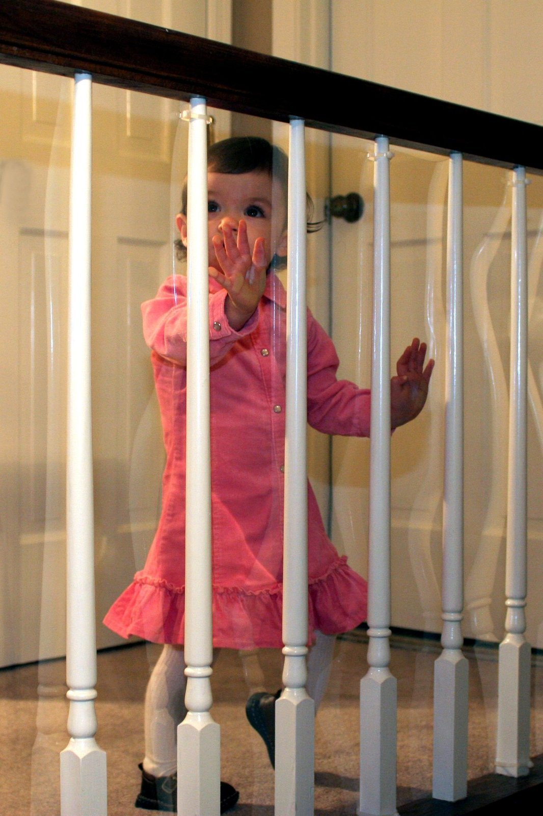 Amazon Com Kidkusion Banister Guard Clear Childrens