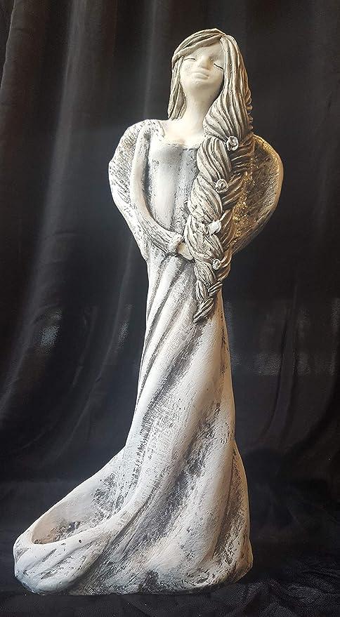WERBUNGkreativ Figura de ángel de 18 cm de Alto, Figura de Yeso ...