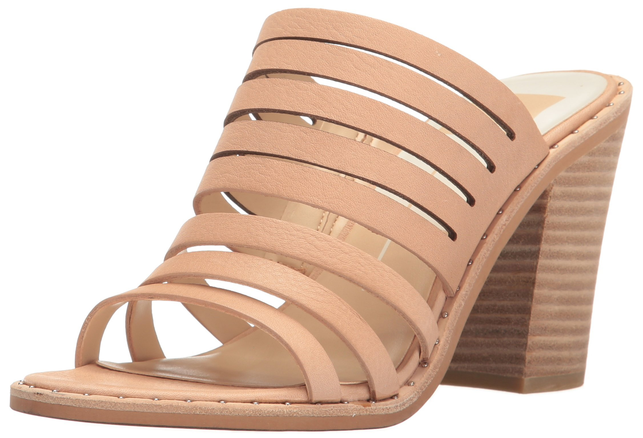 Dolce Vita Women's Lorna Heeled Sandal, Blush Leather, 8.5 M US