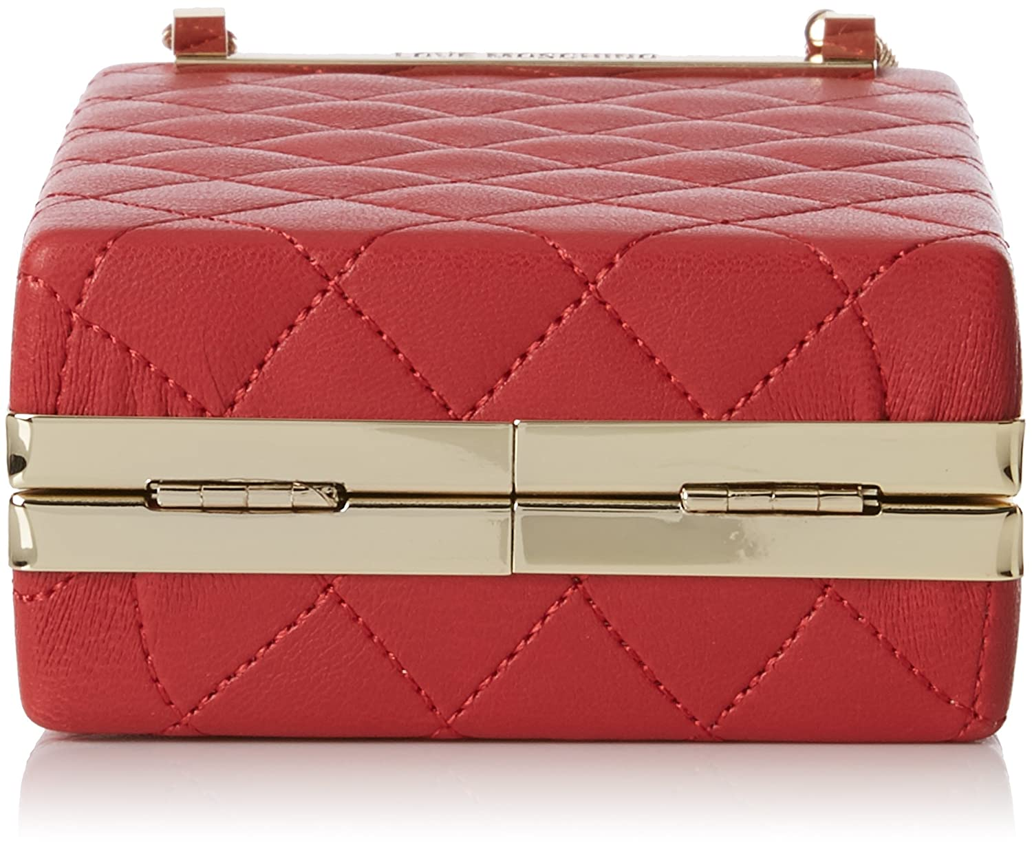 Borsa Quilted Nappa Pu Rosso, Womens Baguette, Red, 5x15x10 cm (B x H T) Love Moschino