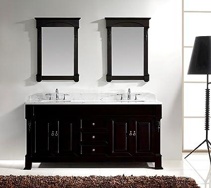 Virtu GD 4072 WMSQ DW Huntshire Double Bathroom Vanity Cabinet Set, 72u0026quot