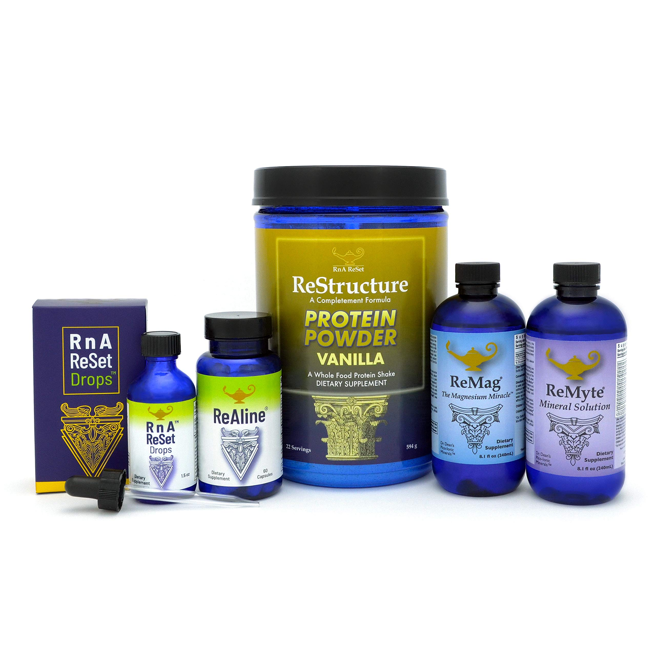 Dr. Dean's Total Body Reset Bundle Includes Pico-Ionic ReMag, ReMyte, ReAline, ReStructure, RNA Drops