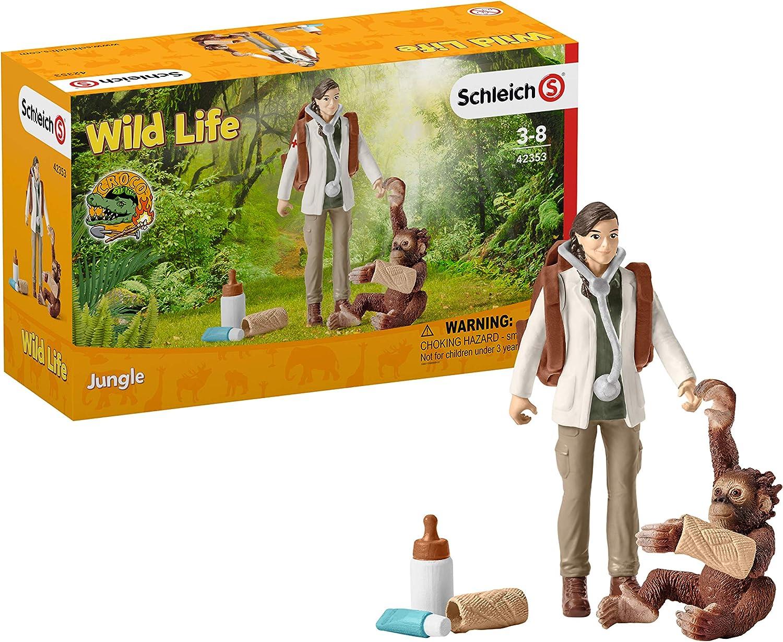 Schleich Dschungel Forschungsstation Croco Kinder Spielzeug Spielfiguren NEU