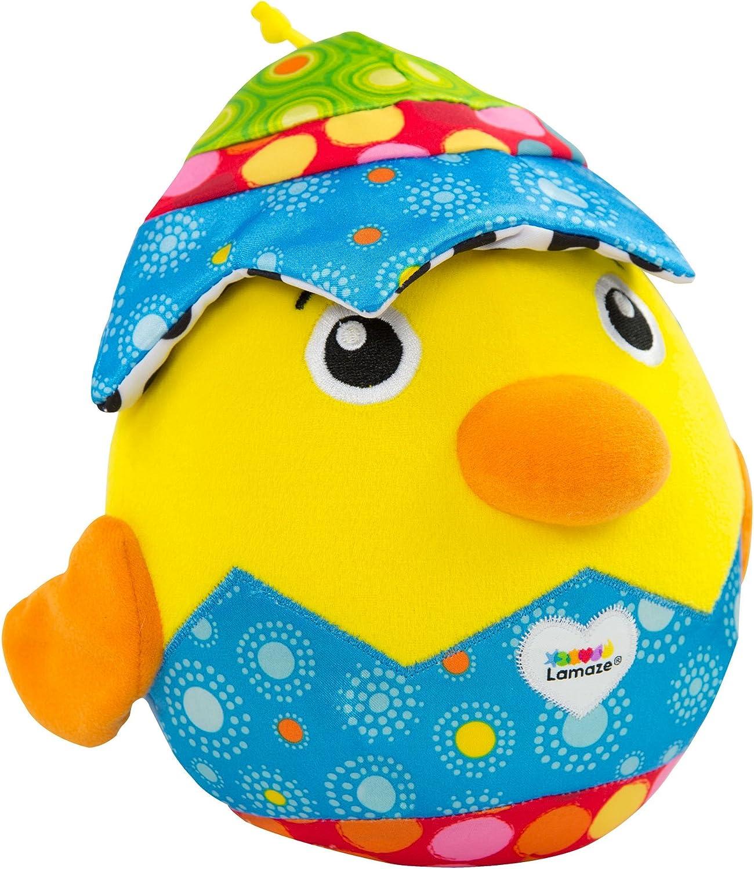 Lamaze Hatching Henry - Peluche suave para bebé, juguete de peluche para juegos sensoriales, ideal como regalo de baby shower para nuevos padres, apto para bebés niños y niñas a partir de 6 meses